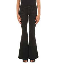 Free People Stella High Rise Flare Jeans Black