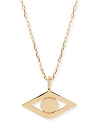 14K Yellow Gold Evil Eye Charm Necklace Sydney Evan Yellow Gold