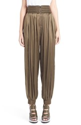 Women's Fendi Passementerie Detail Stretch Satin Track Pants