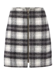 Therapy Faith Check Print Mini Skirt Check