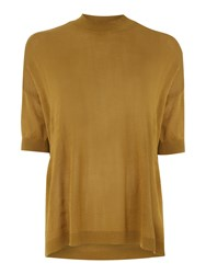 Vero Moda Funnel Neck Blouse Camel