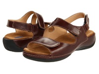 Wolky Liana Cafe Smooth Leather Women's Sandals Brown