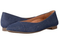Vionic Gem Caballo Ballet Flat Denim Women's Flat Shoes Blue