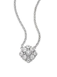 Judith Ripka La Petite White Sapphire And Sterling Silver Snowflake Necklace