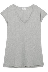 Frame Supima Cotton Jersey T Shirt Gray