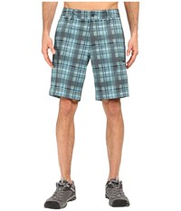 The North Face Pura Vida 2.0 Shorts Laurel Wreath Green Plaid Men's Shorts Blue