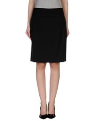57 T Knee Length Skirts Black