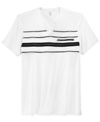 Inc International Concepts Lars Split Neck Multi Zipper T Shirt Only At Macy's White Pure