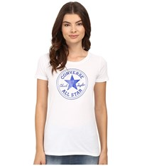 Converse At Once Patent Core Patch Tee Blue Women's T Shirt