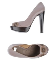 Mare Pumps With Open Toe Dove Grey