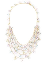 Marie Helene De Taillac Chandelier Bib Necklace Metallic