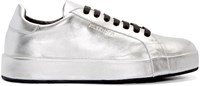 Jil Sander Silver Leather Miro Sneakers