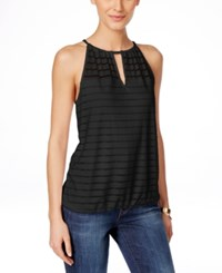 Inc International Concepts Illusion Striped Halter Top Only At Macy's Deep Black