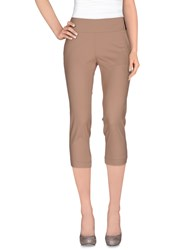 Atos Lombardini Trousers 3 4 Length Trousers Women Skin Color