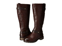 Naturalizer Tanita Wide Calf English Tan Oxford Brown Leather Women's Wide Shaft Boots