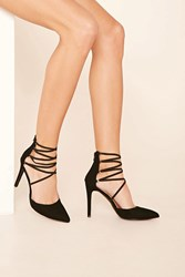 Forever 21 Faux Suede Strappy Heels