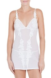 In Bloom By Jonquil Women's Mesh Chemise And G String Ivory