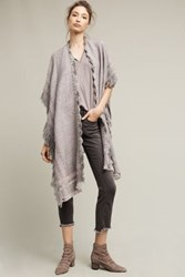 Anthropologie Montreux Fringed Wrap Grey