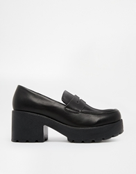 Truffle Collection Truffle Platform Heeled Loafers Black