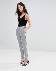 French Connection Ivy Suiting Drawstring Trousers Light Grey Mel
