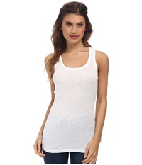 Michael Stars Slub Racerback Tank White Women's Sleeveless