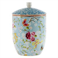 Pip Studio Chinese Rose Storage Jar Blue