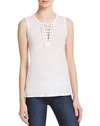 Generation Love Leah Lace Up Tank White