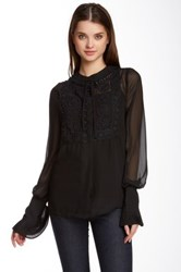 Tov Sheer Chiffon Blouse Black