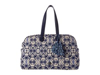 Rafe New York Large Weekender Batik Blue Weekender Overnight Luggage