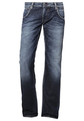 Mustang Michigan Straight Leg Jeans Blau Bleached Denim