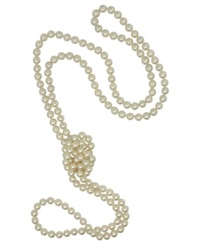 Majorica Pearl Necklace Organic Man Made Pearl Endless Rope