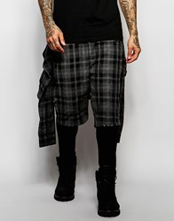 Asos Skinny Joggers With Tie Waist Shirt In Check Black