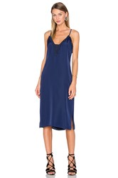 House Of Harlow X Revolve Stella Deep V Slip Dress Navy