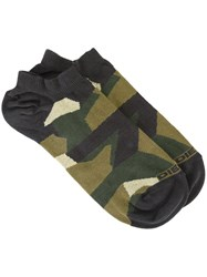 Diesel Camouflage Pattern Socks Green