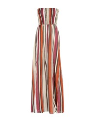 Angela Mele Milano Dresses Long Dresses Women Garnet