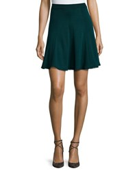 Andrew Gn Flared Knit Skirt Bottle Green