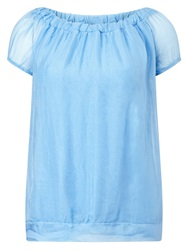 Phase Eight Maggie Silk Blouse Blue