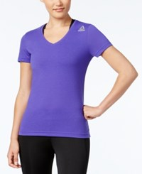 Reebok Speedwick Supremium V Neck T Shirt Ultra Purple