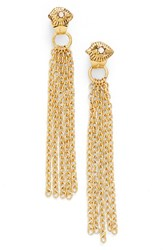 Women's Ettika Crystal Eye Tassel Earrings