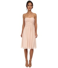 Donna Morgan Anne Short Strapless Chiffon Dress Chantilly Women's Dress Multi