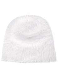 Reinhard Plank Rabbit Fur Beanie Hat White