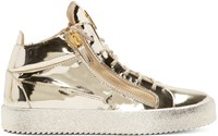 Giuseppe Zanotti Gold High Top Sneakers