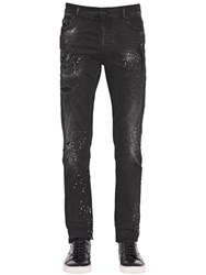 Marcelo Burlon 17Cm Splattered Cotton Denim Jeans