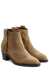 Burberry Shoes And Accessories Suede Ankle Boots Camel