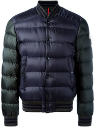 Moncler Varsity Padded Jacket Blue