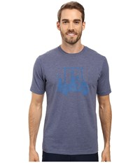 Travis Mathew Mapes Tee Heather Navy Men's T Shirt