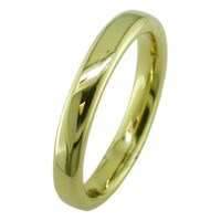 Ewa 18Ct Yellow Gold 3Mm Court Wedding Ring Yellow Gold