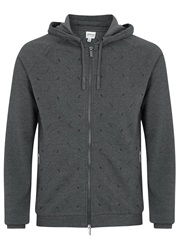 Armani Collezioni Dark Grey Hooded Jersey Sweatshirt