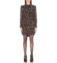 Alexander Mcqueen Obsession Print Silk Shirt Dress Black Mix