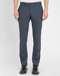Sandro Grey Blue Notch Sky Suit Trousers In Wool